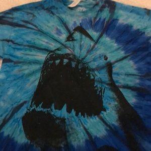 Men's t-shirt, shark on front tye-dye NWOT